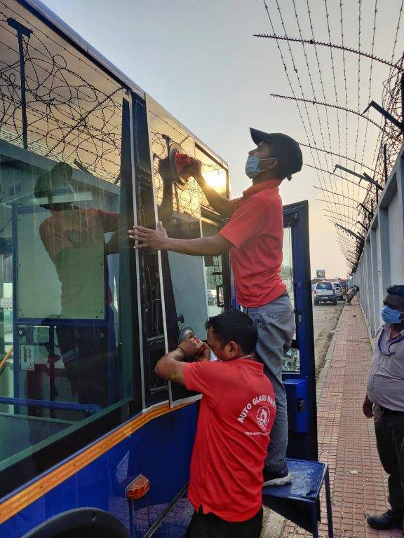 Bus Glass Replacement